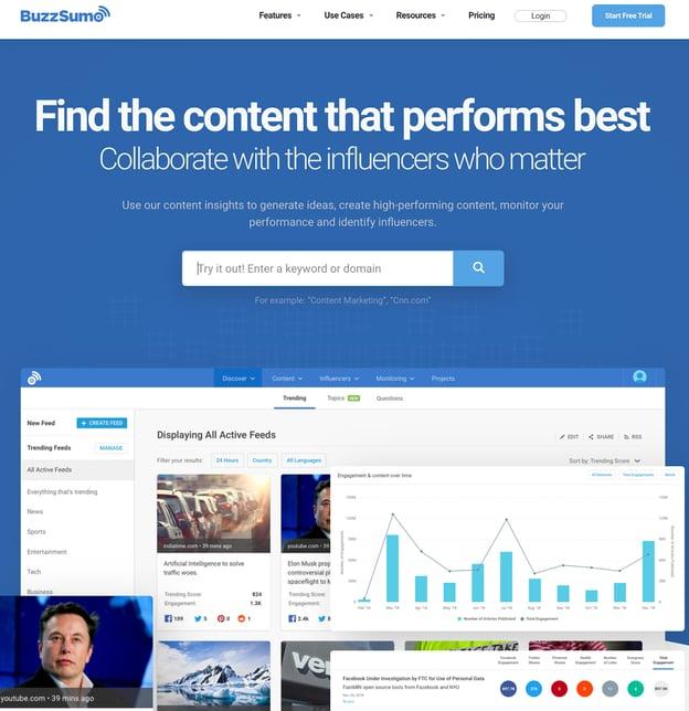Buzzsumo - Content marketing tools