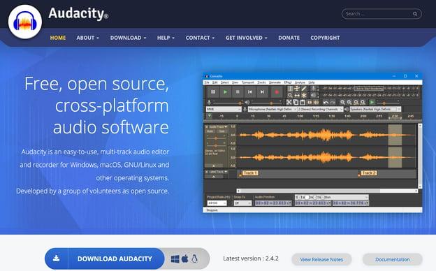 Audacity - Podcast creation tool