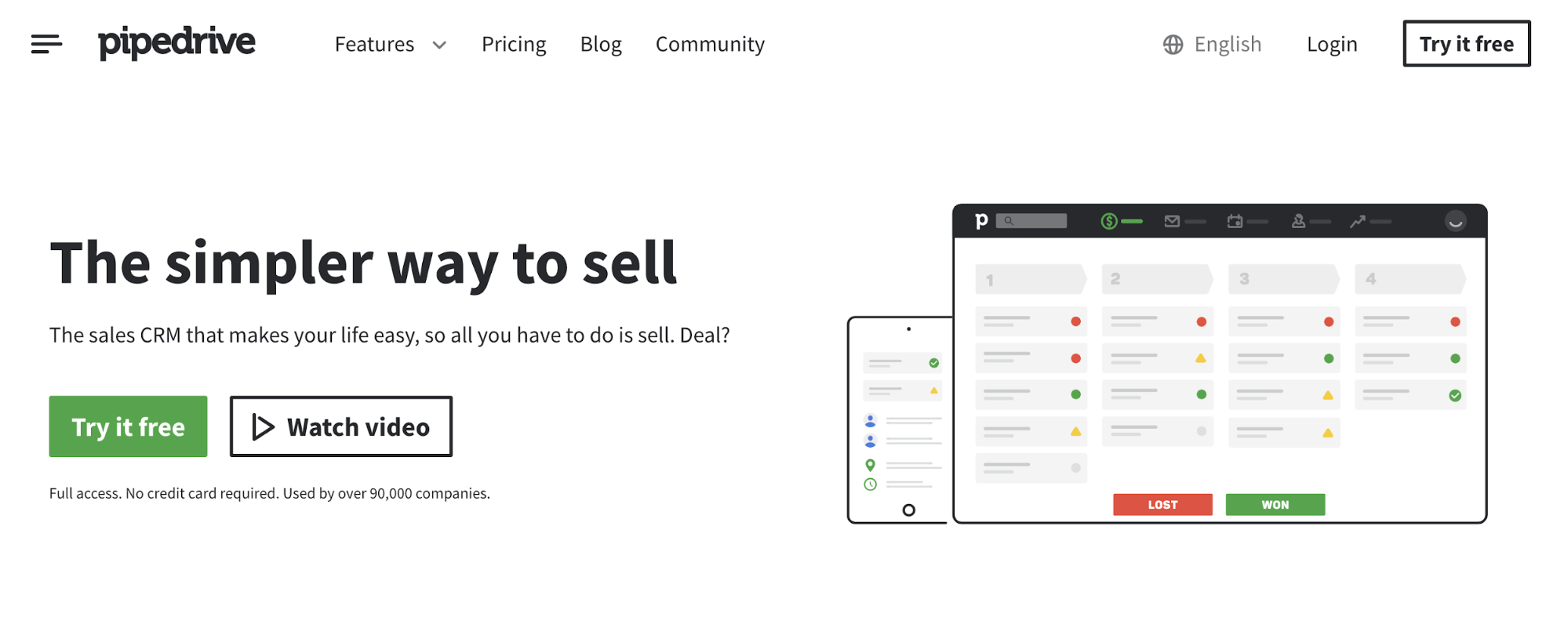 SaaS lead generation with a sales CRM