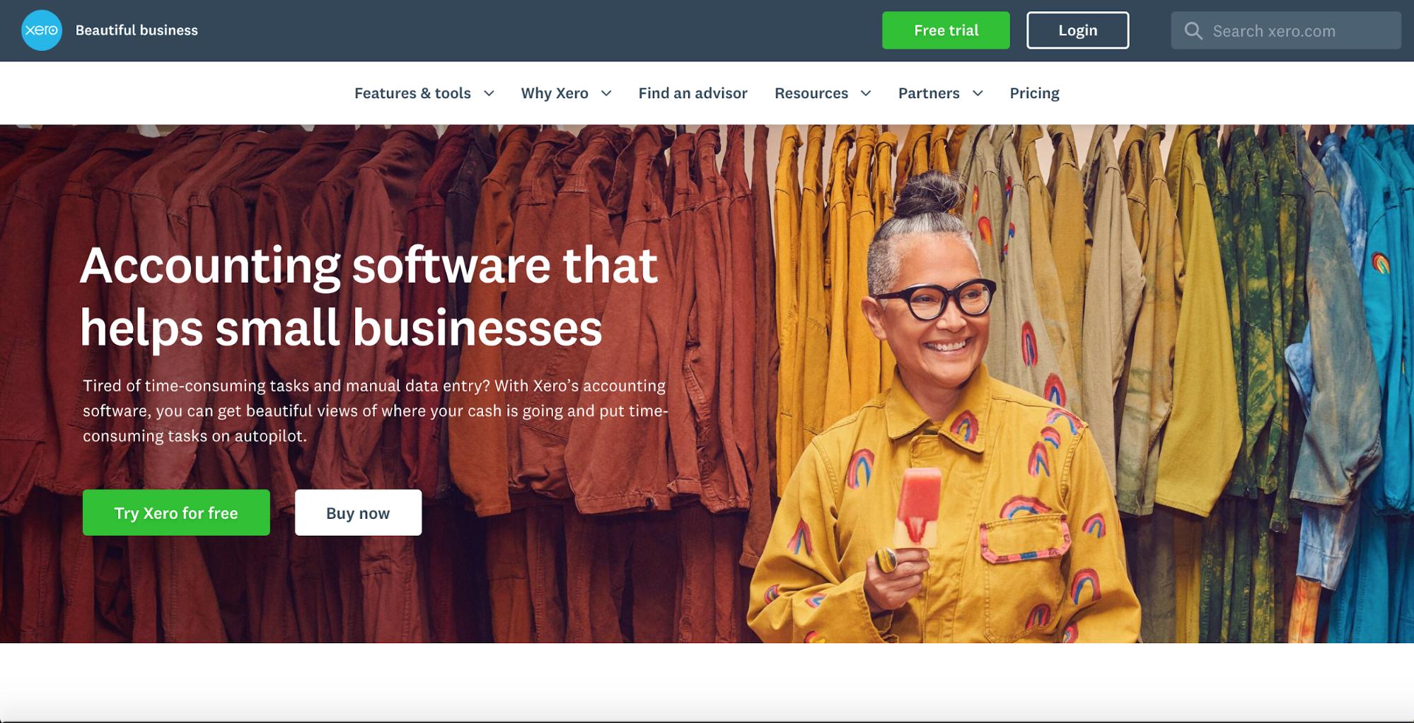 Xero - Best SaaS Website Inspire