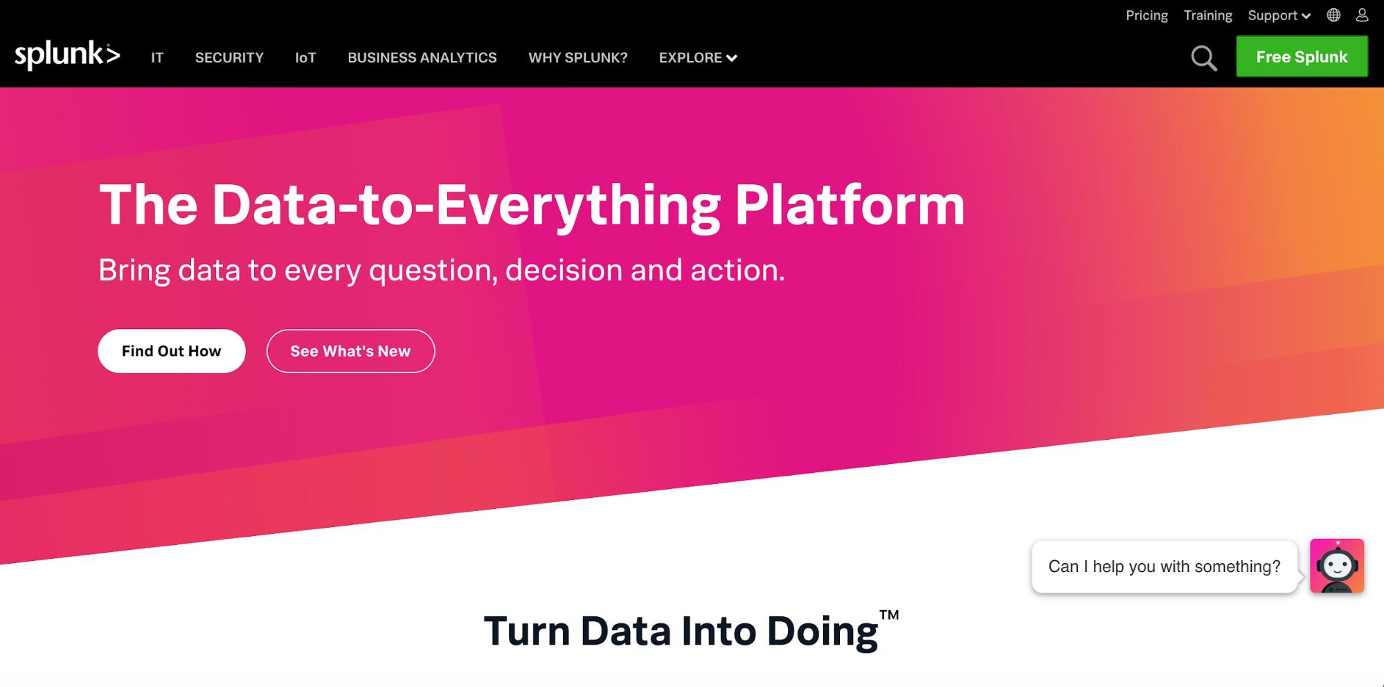 Splunk - SaaS Website Inspiration
