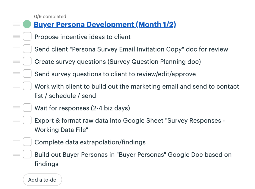 Marketing Persona Development Template