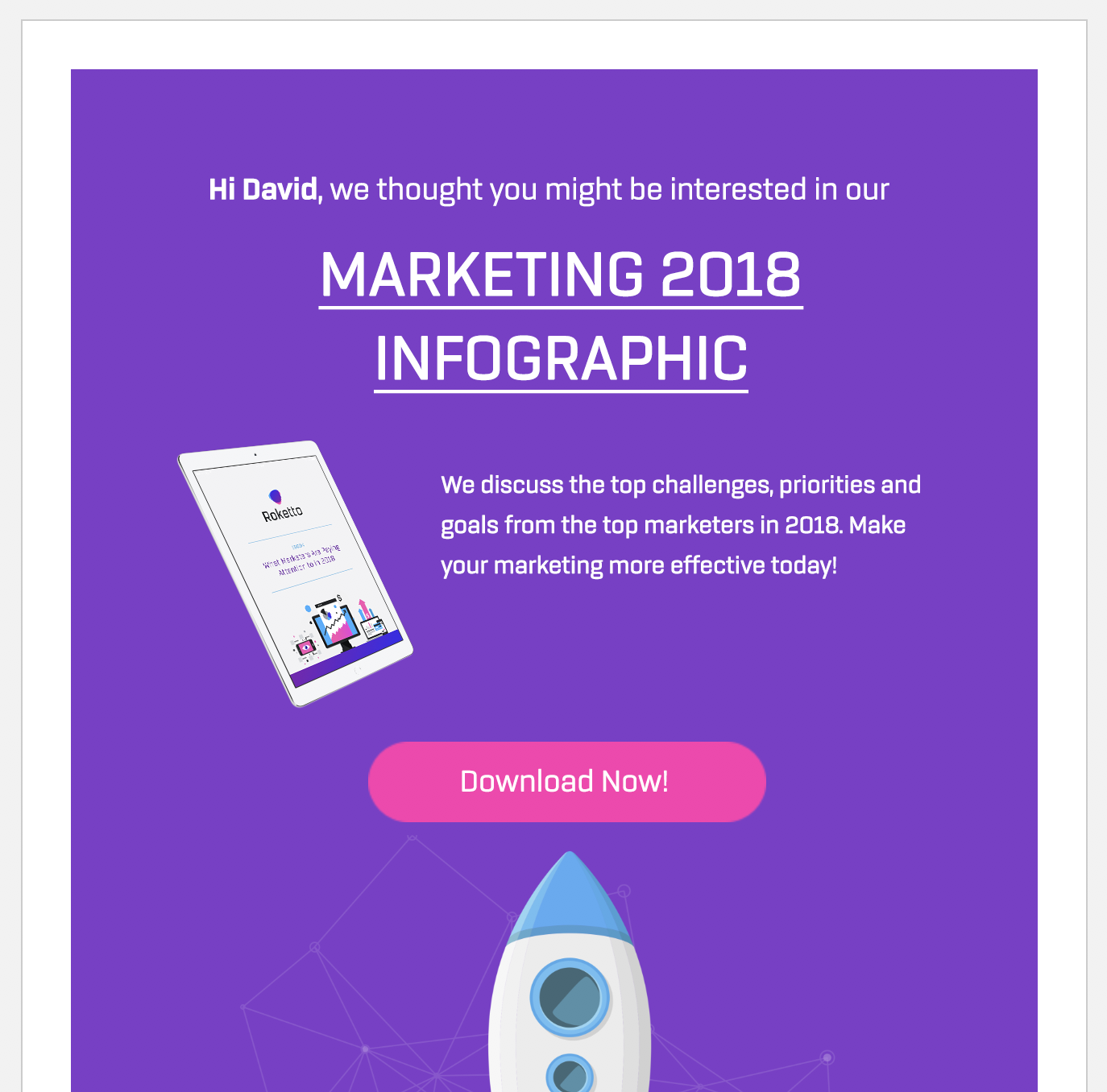 infographic email